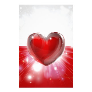 Love Poland flag heart background Stationery Paper