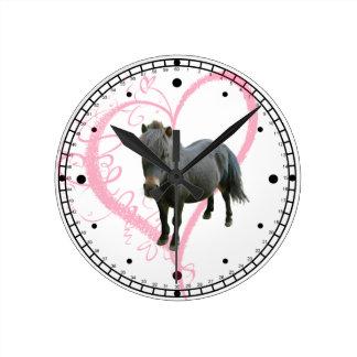 Love Ponies Wall Clock