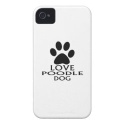 LOVE POODLE DOG DESIGNS Case-Mate iPhone 4 CASE