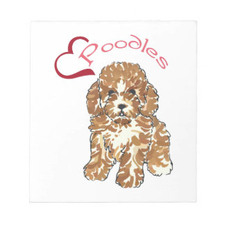 LOVE POODLES NOTEPAD