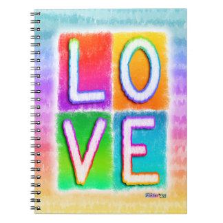 Love Pop Art Inspirational Notebook