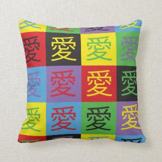 Love Pop Art Throw Pillow