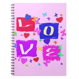 Love Pop Art Sprial Notebook