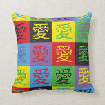 Love Pop Art Throw Pillows
