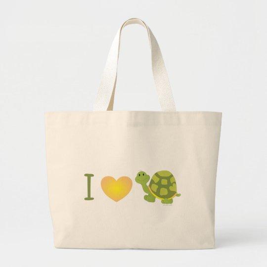 Love Pop Turtle Large Tote Bag