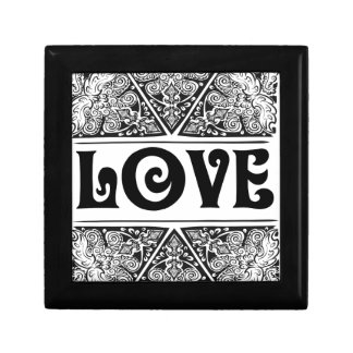 Love - Positive Statement Quote Jewelry Box