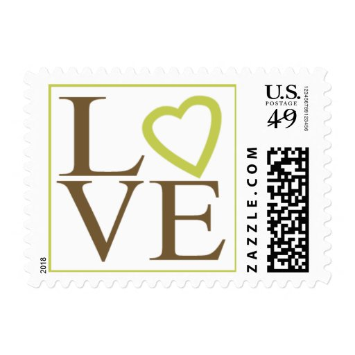 love postage brown and green wedding colors zazzle. Black Bedroom Furniture Sets. Home Design Ideas