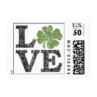 Love Postage with shamrock
