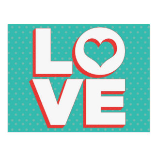 Love Postcard With Heart