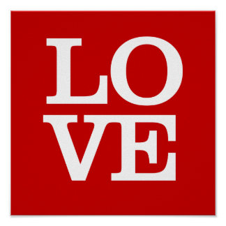 LOVE Poster - Red