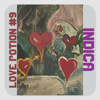 LOVE POTION #9 INDICA SQUARE STICKER