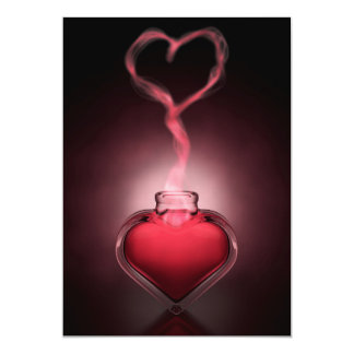 Love Potion And Heart Fumes Card