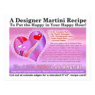 Love Potion Number Nine Valentine Martini Recipe P Postcard