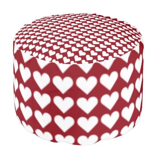 Love Pouf Ottoman Valentine's Pillow Footstool