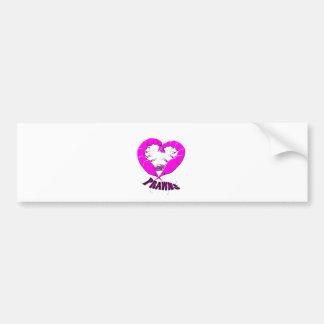 love prawns bumper sticker