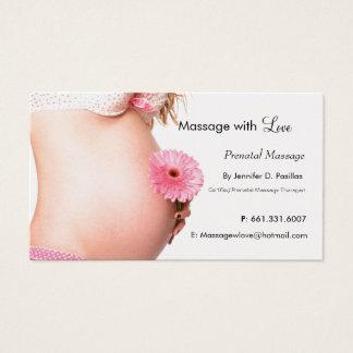 Love, Prenatal Massage Business Card