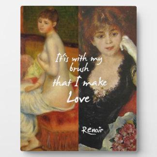 Love principal source in Renoir's masterpieces Plaque