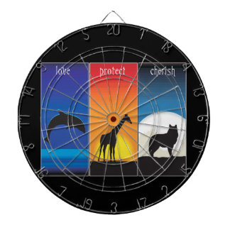 Love, Protect and Cherish Animals Dart Board