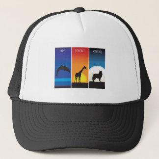 Love, Protect and Cherish Animals Trucker Hat