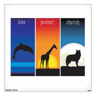 Love, Protect and Cherish Animals Wall Sticker