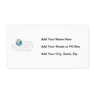 Love Protect Nurture T-shirts and Gifts Label