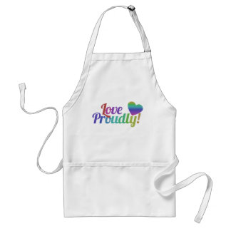 Love Proudly Adult Apron