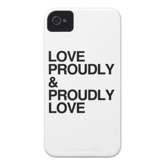 LOVE PROUDLY AND PROUDLY LOVE Case-Mate BLACKBERRY CASE