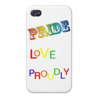 Love Proudly iPhone 4/4S Cover