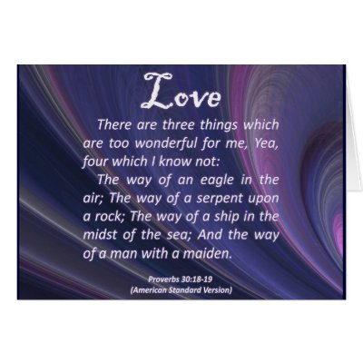 love proverbs 30 18 greeting cards from zazzle love proverbs 400x400