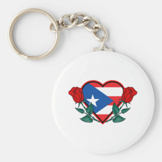 Love Puerto Rico Basic Round Button Keychain
