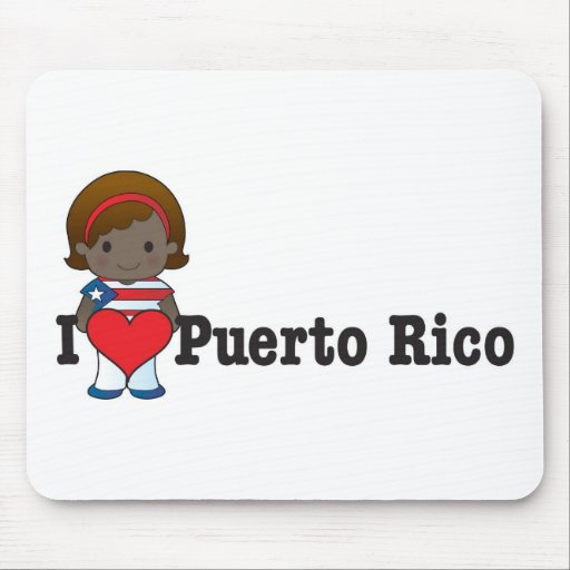 Love Puerto Rico Mouse Mat