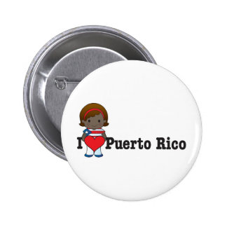 Love Puerto Rico Pinback Button