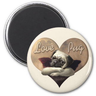 Love Pug Inspired by Raphael Magnet