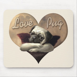 Love Pug Inspired by Raphael Mouse Pad
