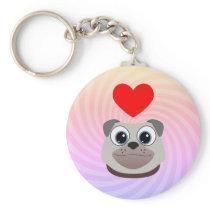 Love Pug Keychain