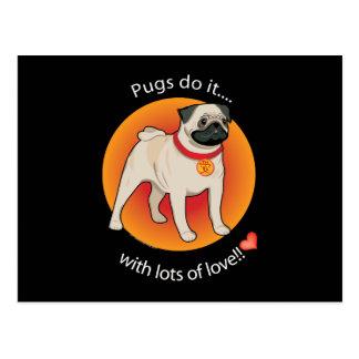 Love Pug Postcard