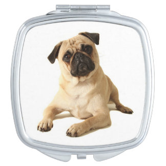 Love Pug Puppy Dog Mirror Compact Compact Mirrors