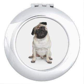 Love Pug Puppy Dog Mirror Compact Makeup Mirror