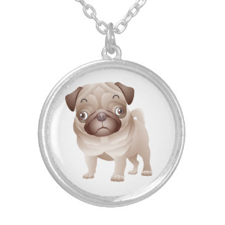 Love Pug Puppy Dog Pendant Necklace