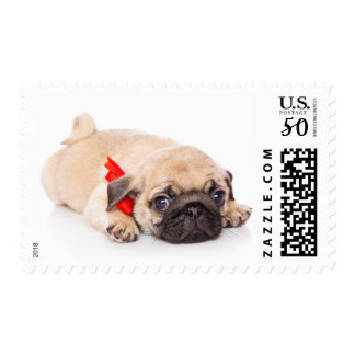 Love Pug Puppy Dog Postage Stamps