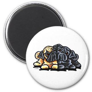 Love Pugs 2 Inch Round Magnet