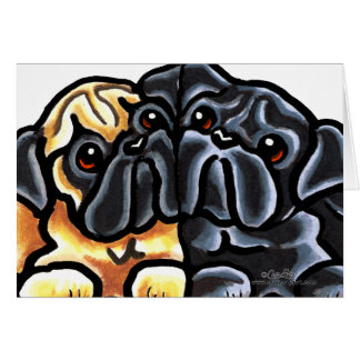 Love Pugs Stationery Note Card