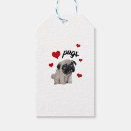 Love pugs gift tags