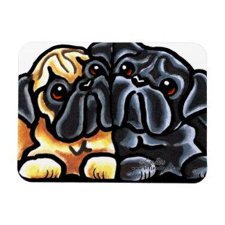 Love Pugs Rectangular Photo Magnet