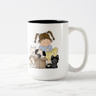 Love Puppies Two-Tone Coffee Mug
