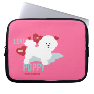 Love Puppy Pink Laptop Case Laptop Sleeve