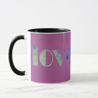 Love Purple Abstract Watercolor Mug Gift for Her