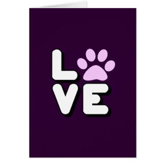 LOVE - PURPLE CARD