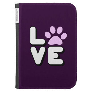 LOVE - PURPLE KINDLE COVER