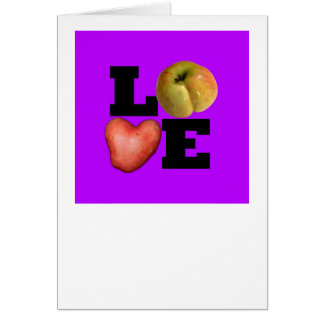 LOVE Purple Valentine Greeting card
